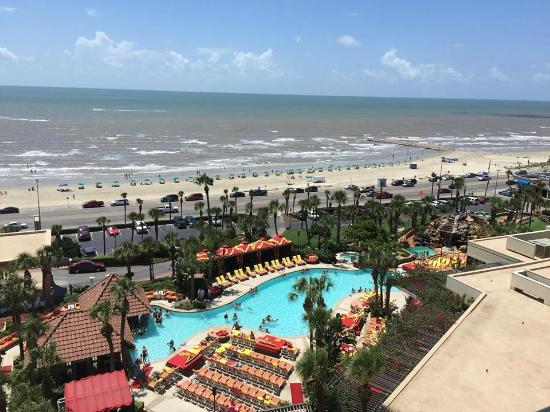 view from the room picture of the san luis resort galveston tripadvisor. Black Bedroom Furniture Sets. Home Design Ideas
