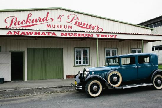 Whangarei, New Zealand: Our 1931 Packard 833 Club Sedan sitting outside one of the Packard Sheds