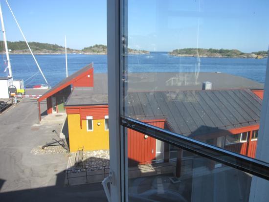 Risor Hotel: Utsikt fra vinduet