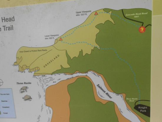 Map Provided On Posts Of Cascade Head Picture Of Cascade Head