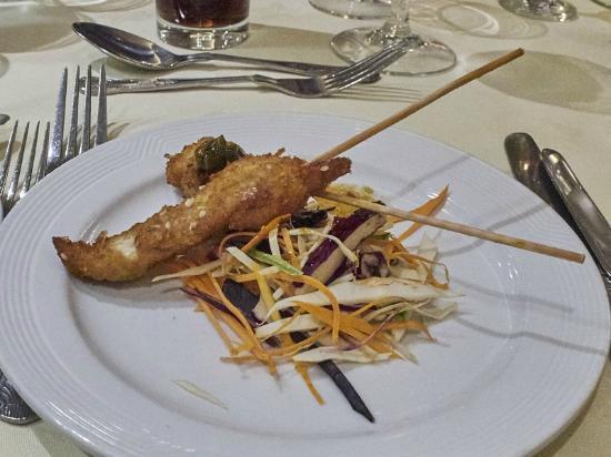 The New Ship Restaurant: New Ship: Sesame chicken skewers with teriyaki marindate