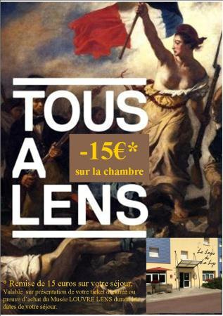 Le Logis De La Lys : Remise sur votre séjour culturel du musée Louvres-Lens