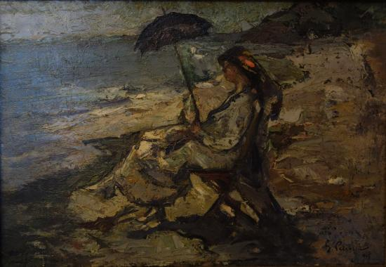 K. H. Zambaccian Museum: Gheorghe Petrașcu: Woman by the Sea