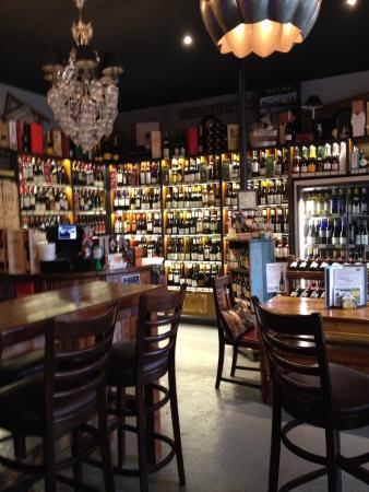 The Cave: A large range of wines you can buy to take away.
