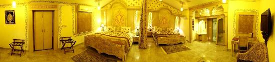 Chokhi Dhani Resort: The Family Royal Suite is spacious spread in 446.62 square feet, with two DBL Beds n 2 bathrooms