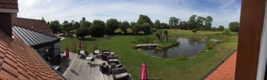 Hotel les Saules: Vue panoramique de la chambre
