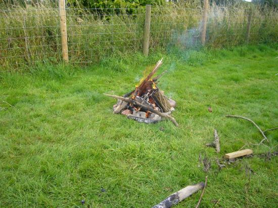 Tresseck Campsite: fire