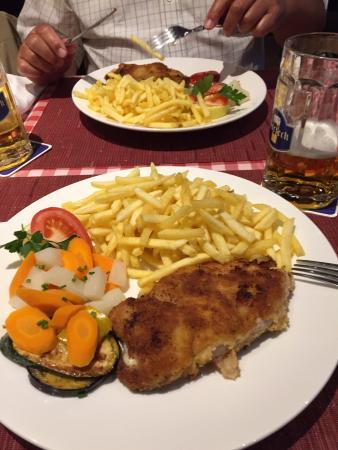 Restaurant & Bierstube Zum Stadtkeller: Cordon blue