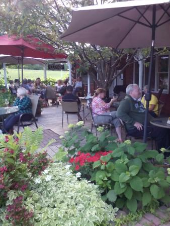 Stone Lake, WI: Patio in July