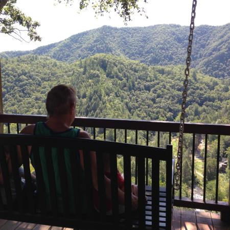RiverDance: The porch swing and great view