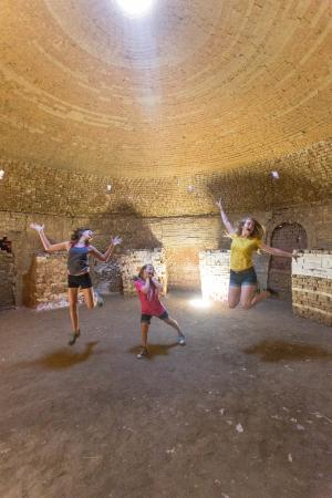 Archie Bray Foundation: a photo from inside one of the beehive kilns
