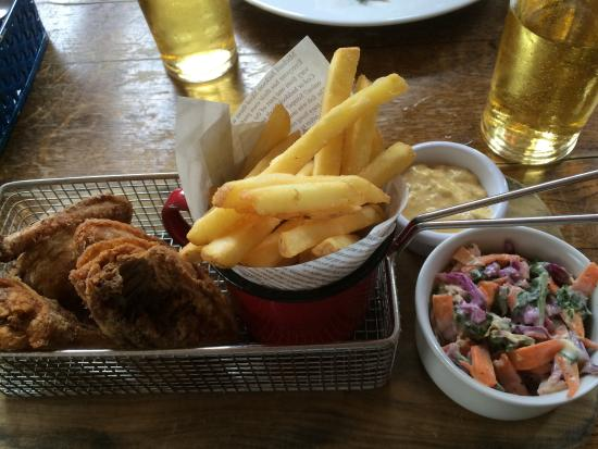 The Marquis Cornwallis: Better than average food but still a PUB. So don't expect table service.