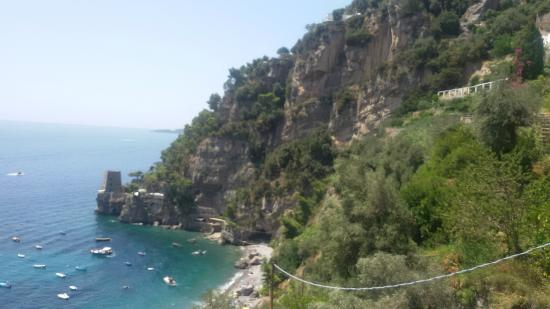 Vittoria: View from the beach steps