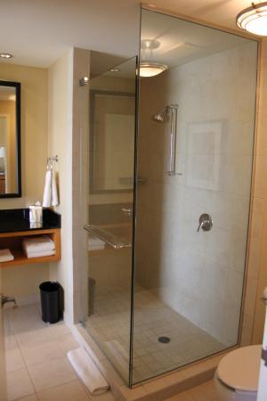 A double shower enclosure on Club Level - Picture of Renaissance ...