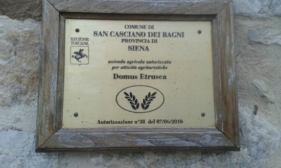 esterno - Picture of Domus Etrusca Agriturismo, San Casciano dei ...