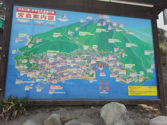 Map of Miyajima Island Picture of Miyajima Hatsukaichi TripAdvisor