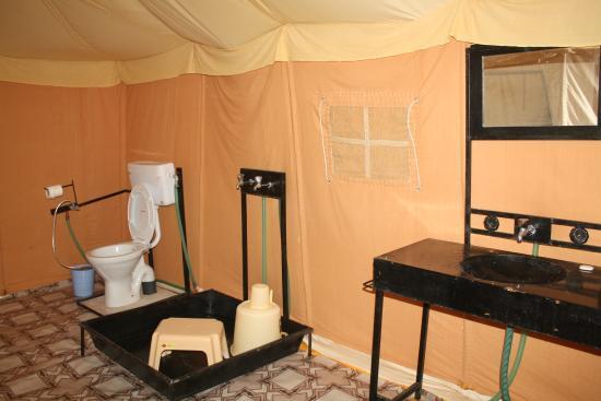 Desert Safari In Jaisalmer tent bathroom & tent bathroom - Picture of Desert Safari In Jaisalmer Jaisalmer ...