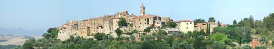 Castelmuzio, Italia: Panorama di Catelmuzio