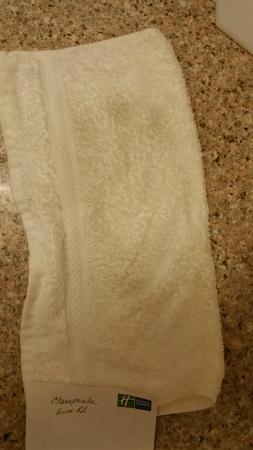 Holiday Inn Express Chesapeake: Dirt from Floor Bathroom