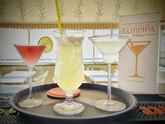 Europa Restaurant: Cocktails are in order!