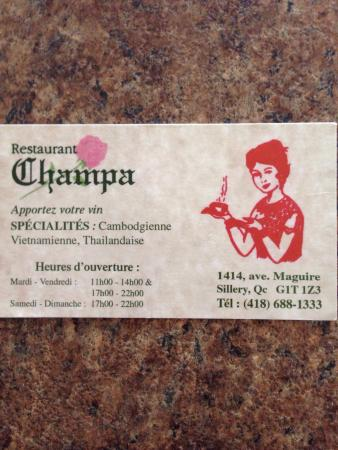 Restaurant Champa Maguire