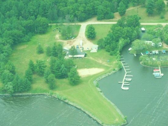 Friendship, WI: Aerial photo of Splash