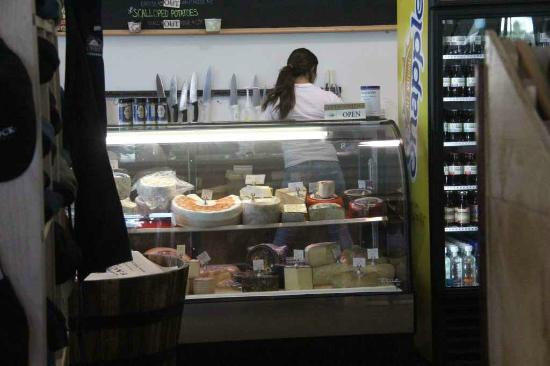Face Rock Creamery: Cheeses not produced here are sold