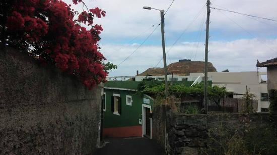 Madeira Surf Camp : Street leading down to MSC (green house.)