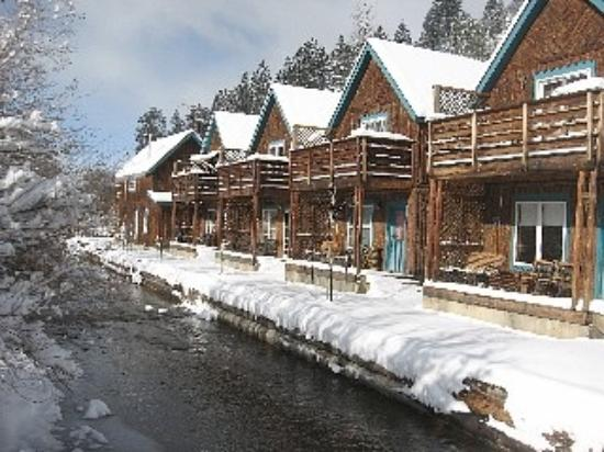Cabins right by the creek bed picture of red river ski for Cabins in taos nm