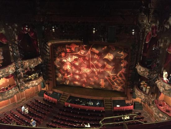 Lyceum Theatre: Front row of grand circle seat 21