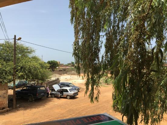 Hostal Donosti: Aussicht von der Terrasse
