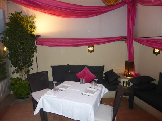 Riad Chayma : Set up for dinner on our first night