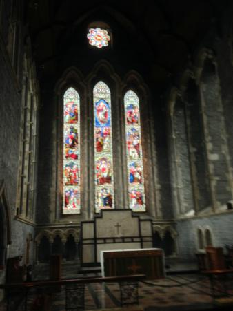 Kilkenny, Irlandia: Stained Glass Window On Platform
