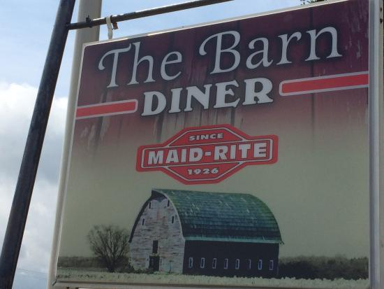 The Barn: Sign.