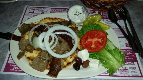 Rosewood Family Restaurant: Liver and Onions and Gyro. The food was wonderful