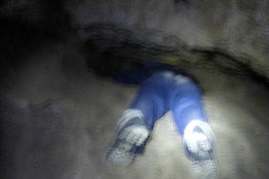Sorbas, Испания: Reptando en la cueva