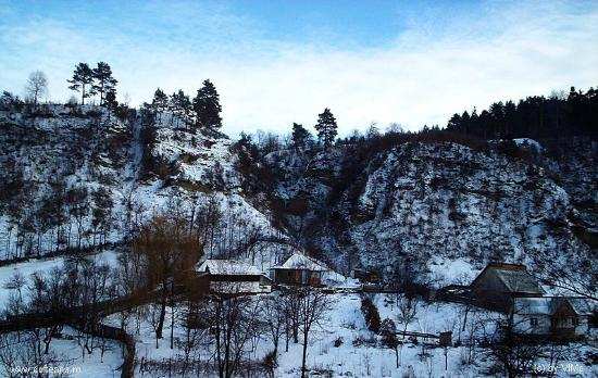 Dofteana, Romania: Winter Landscape