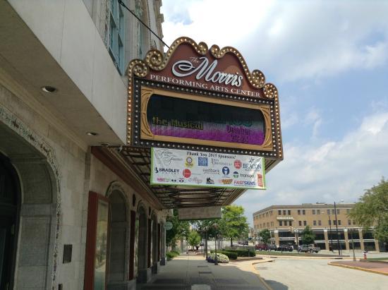 Morris Performing Arts Center: The Big Morris Sign.