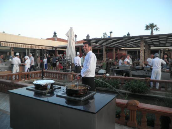 Club Resort Atlantis: Terrasse restaurant