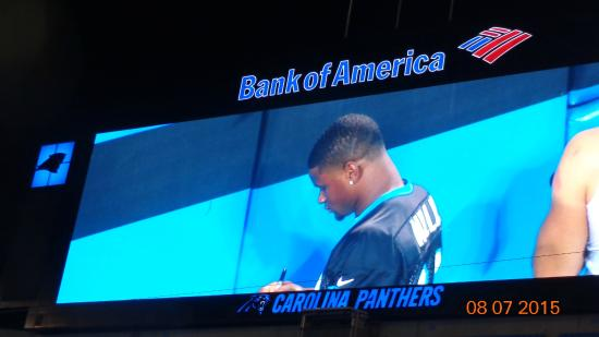 The Bank of America Stadium: Team Autographs