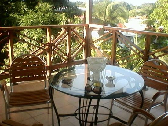 Hostal Dona Maria: Rear Veranda/Porch