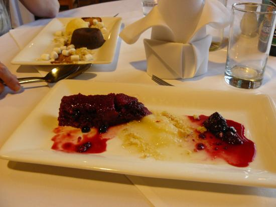 Maidens Tower B&B: beetroot and goats cheese starter for eve meal