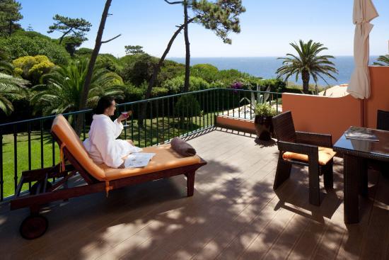 Senhora da Guia Cascais Boutique Hotel: Large Terrace overlooking Atlantic Ocean