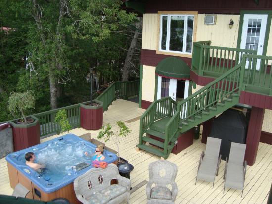 vue de la terrasse arri re picture of auberge villa bellerive lac nominingue tripadvisor. Black Bedroom Furniture Sets. Home Design Ideas