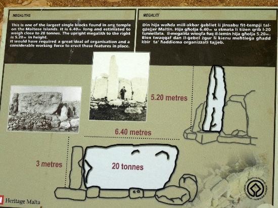Qrendi, Malta: Descrizione massa e peso blocchi