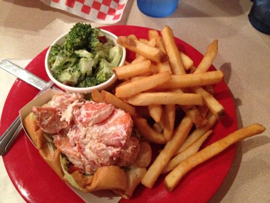 Boston's Fish House: Lobster salad roll with 2 sides