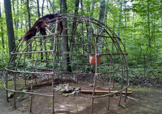 Waswagoning Indian Village: Winter Wigwam Frame