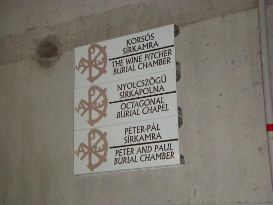 Early Christian Mausoleum: Helpful signs throughout