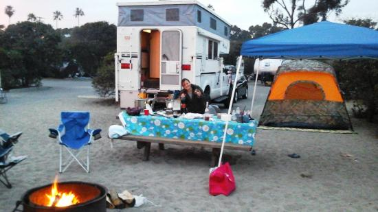 Dana Point, CA: pitch a tent as long as within your demarcated space