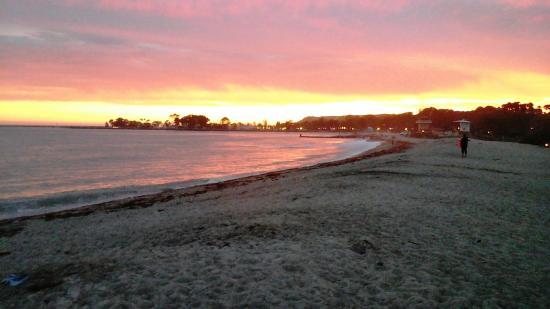 Dana Point, CA: sunset at Doheny Campground